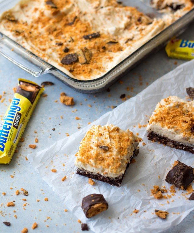 Loaded Butterfinger Dark Brownies-7