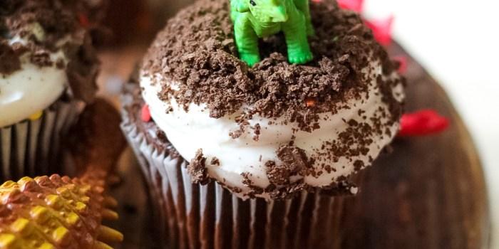 Easy Dinosaur Cupcakes