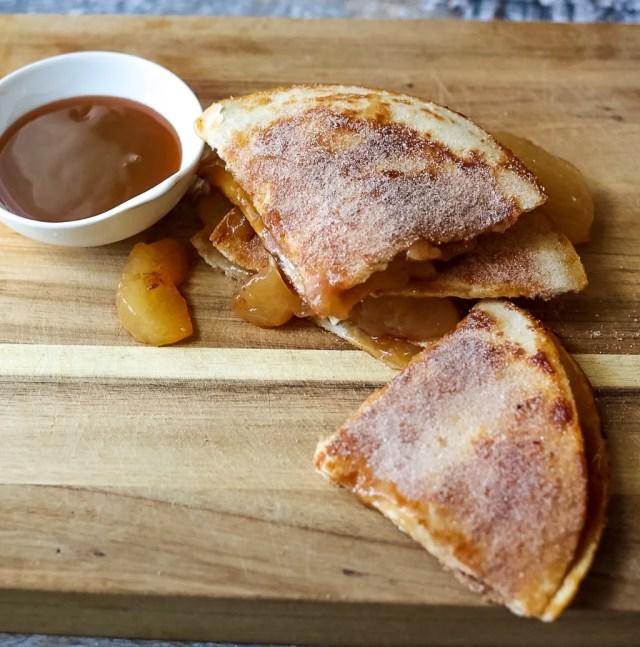 Caramel Apple Pie Quesadillas-2