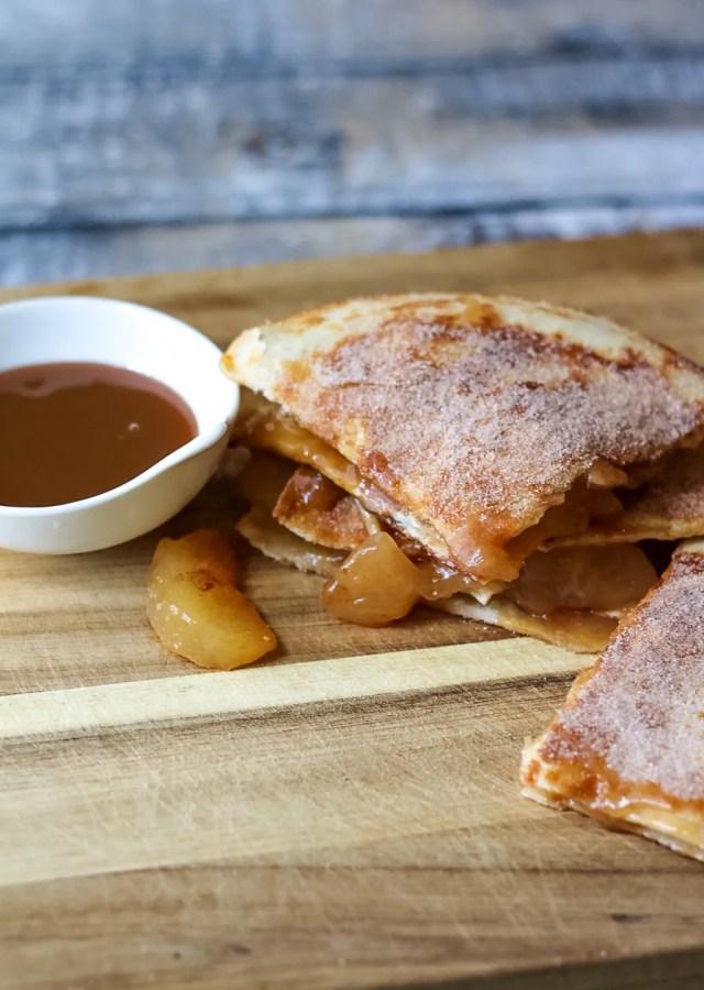 Caramel Apple Pie Quesadillas-5
