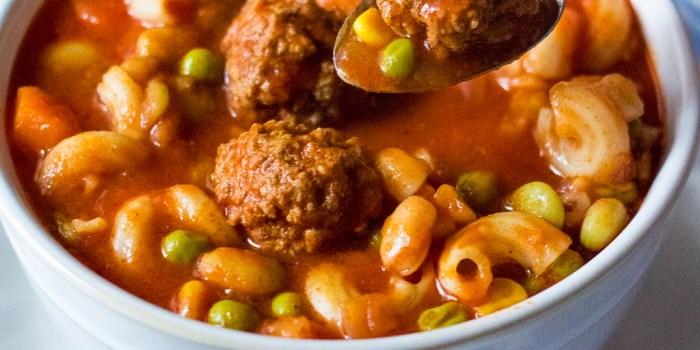 Meatball Vegetable Soup