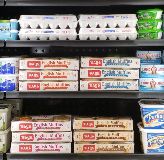 _REQUIRED PHOTO - Bays English Muffins on Shelf in Dairy Section