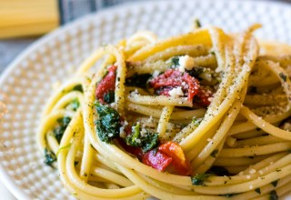 Spinach & Roasted Red Pepper Pasta-3