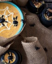 Spooky Spider Sausage Queso-2