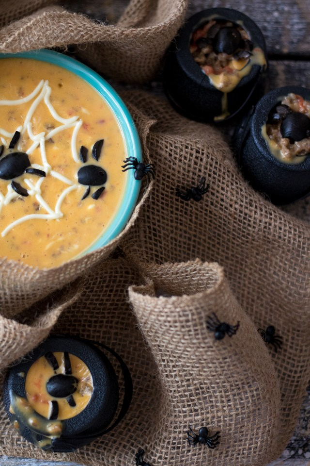 Spooky Spider Sausage Queso-2