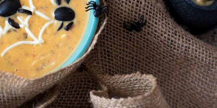 Spooky Spider Sausage Queso