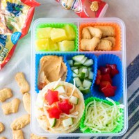 DIY Mediterranean Pizza Lunch Box