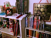 My favorite corner: Christmas books, movies and our advent calendar