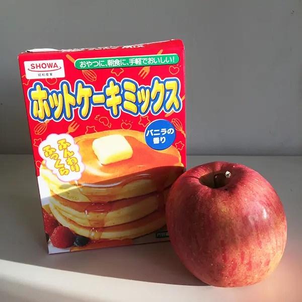 ホットケーキミックス りんご バラ