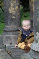 Olly in the gazebo