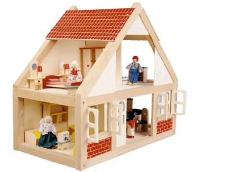 Neutral Wooden Dolls House