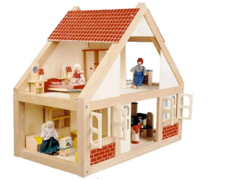 Neutral Wooden Dolls House