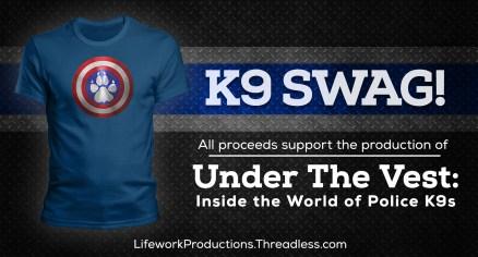 Captain K9 Shirt Ads