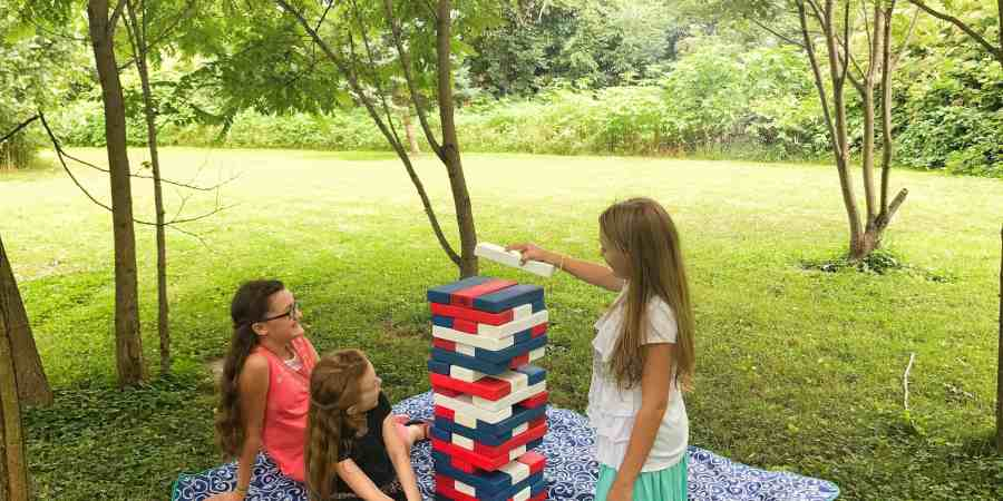 DIY Backyard Jenga