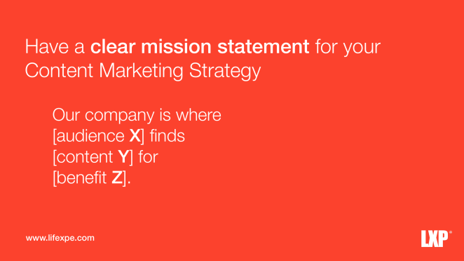 Quote Mission Statement 6 Amazing Habits For Effective Content Marketing
