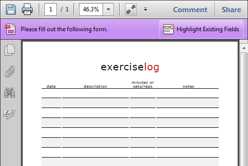 Free Blank Workout Template – Workout Log Sheets