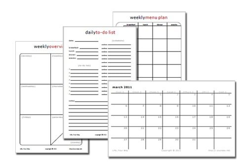 Half-Sheet Printable Planning Pages > Life Your Way