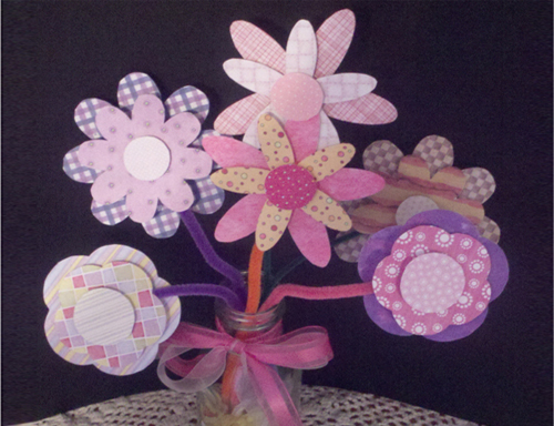 Crafty Paper Flower Bouquet For Kids Free Printable