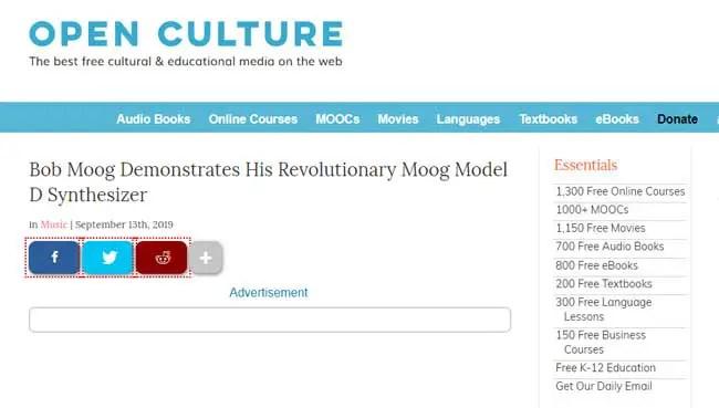 Open-culture-website