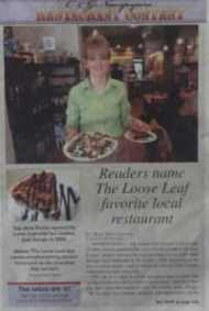 favorite local restuarant the loose leaf
