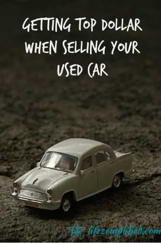 Getting Top Dollar When Selling Your Used Car Online