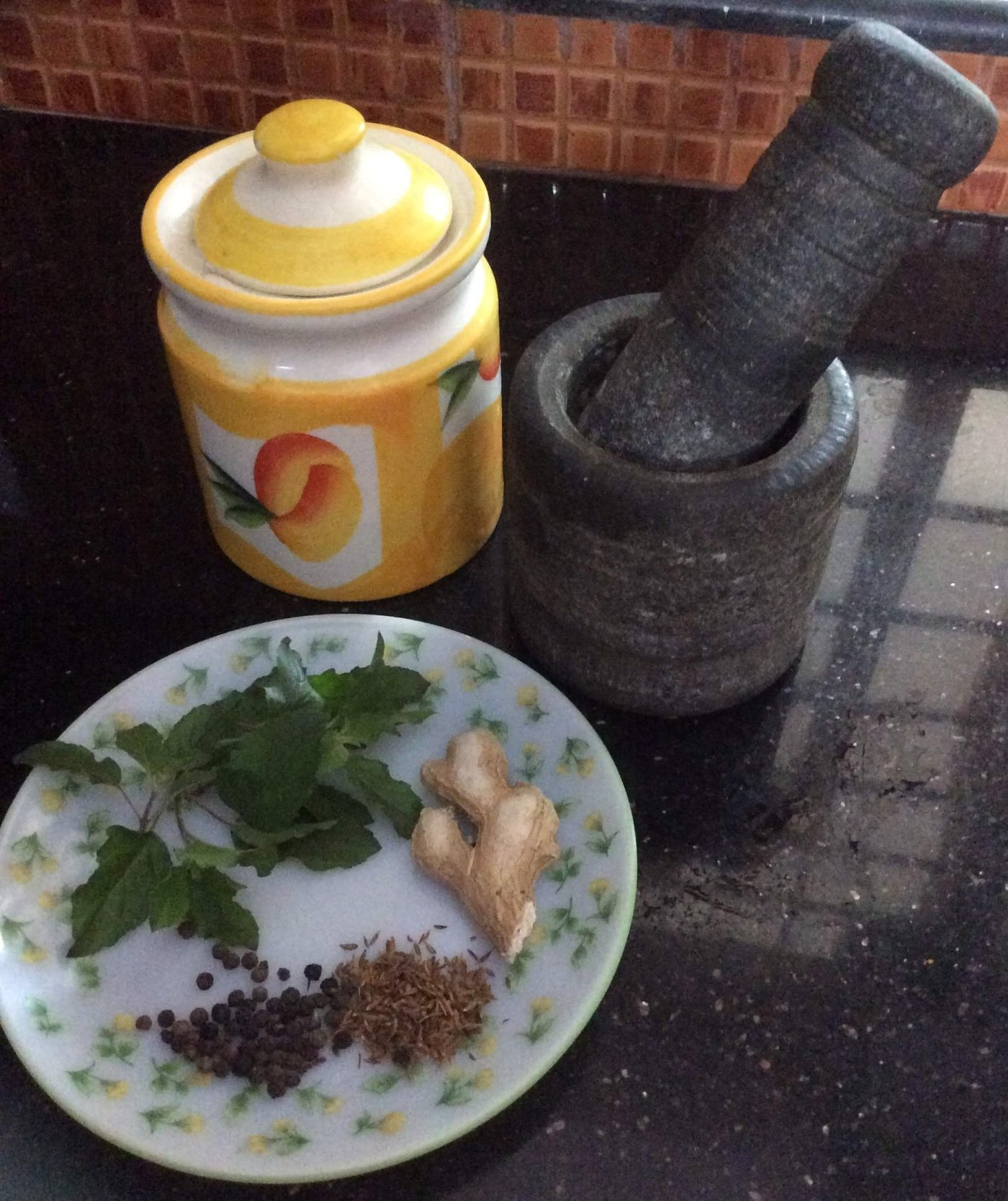 Make remedy for fever with pepper basil jaggery cumin seeds etc