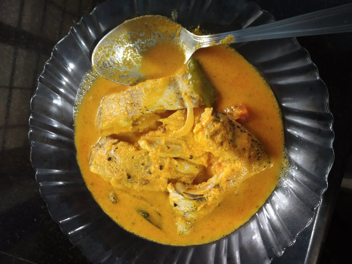 Karimeen Mappas tasty Kerala Fish curry  eat with boiled rice
