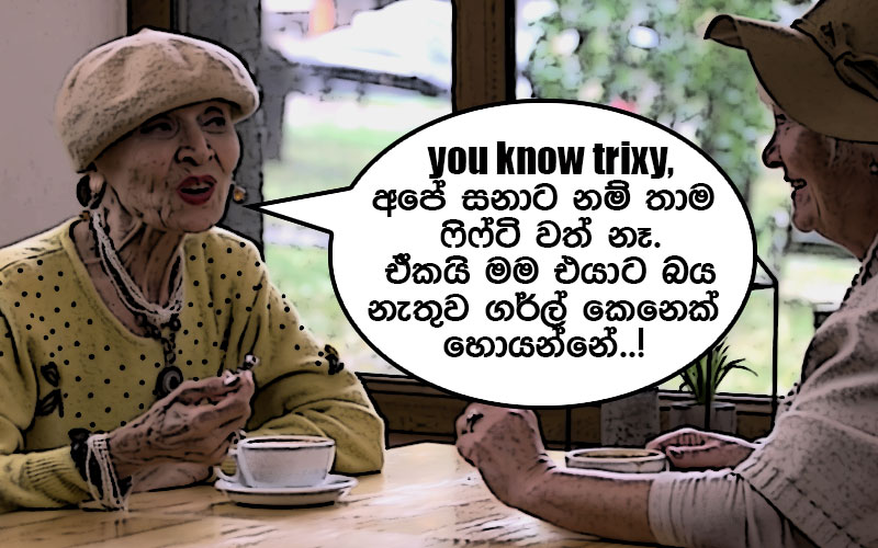 Lankan aunty types