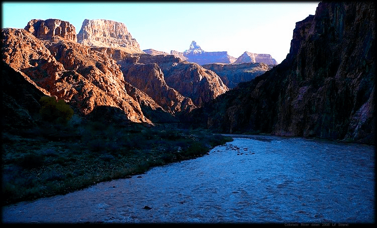 Colorado River, Grand Canyon, at dawn 2018 Lif Strand