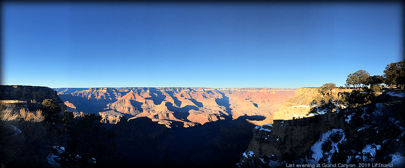Evening over Grand Canyon  2019 Lif Strand