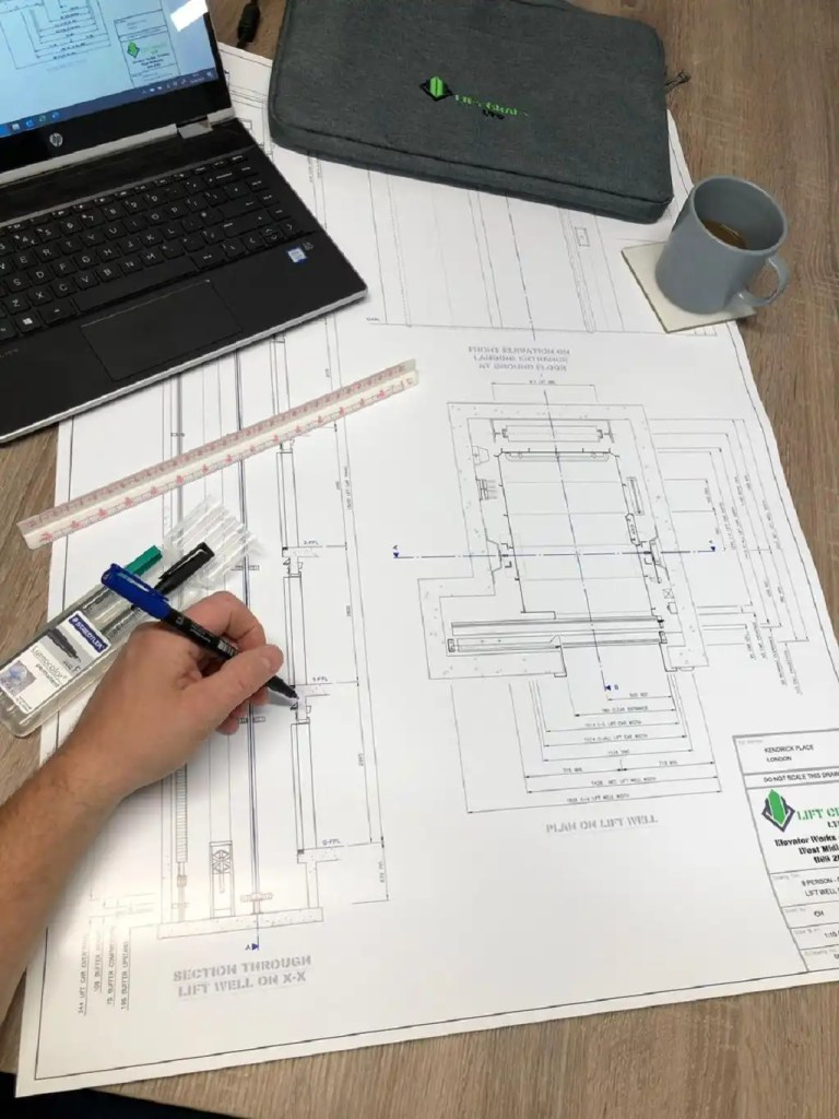 Lift manufacture design drawing