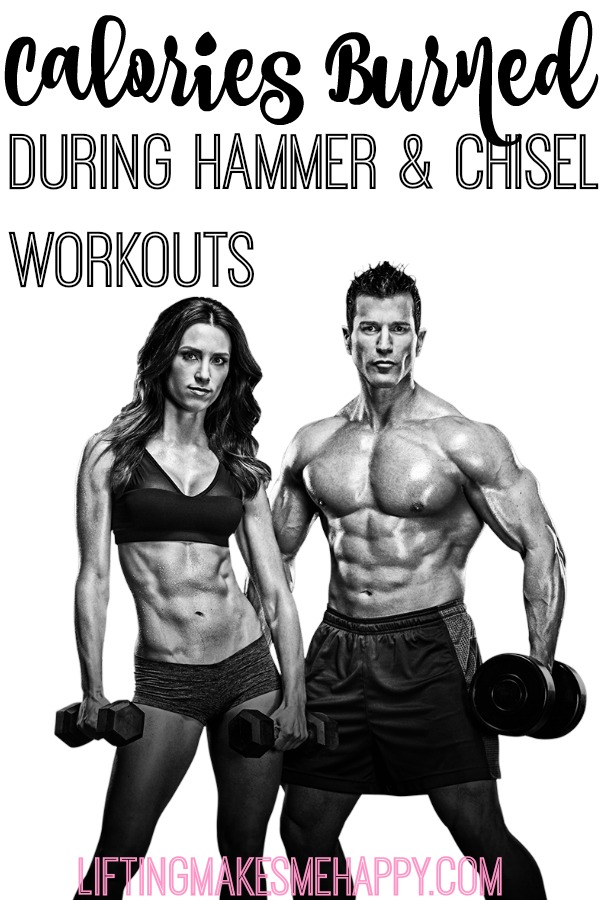 Calories Burned During Hammer and Chisel Workouts - via LiftingMakesMeHappy.com