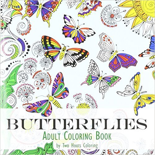 adult coloring book butterflies