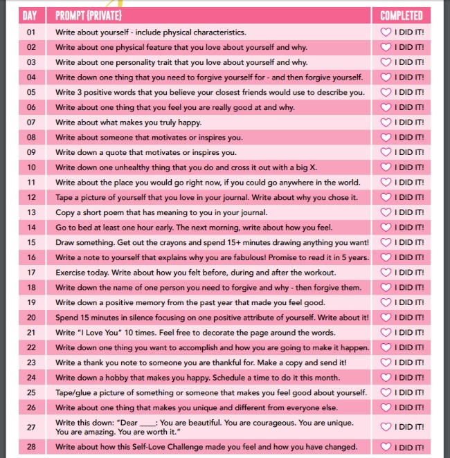 February Self Love Challenge (private) by SkinnyMom