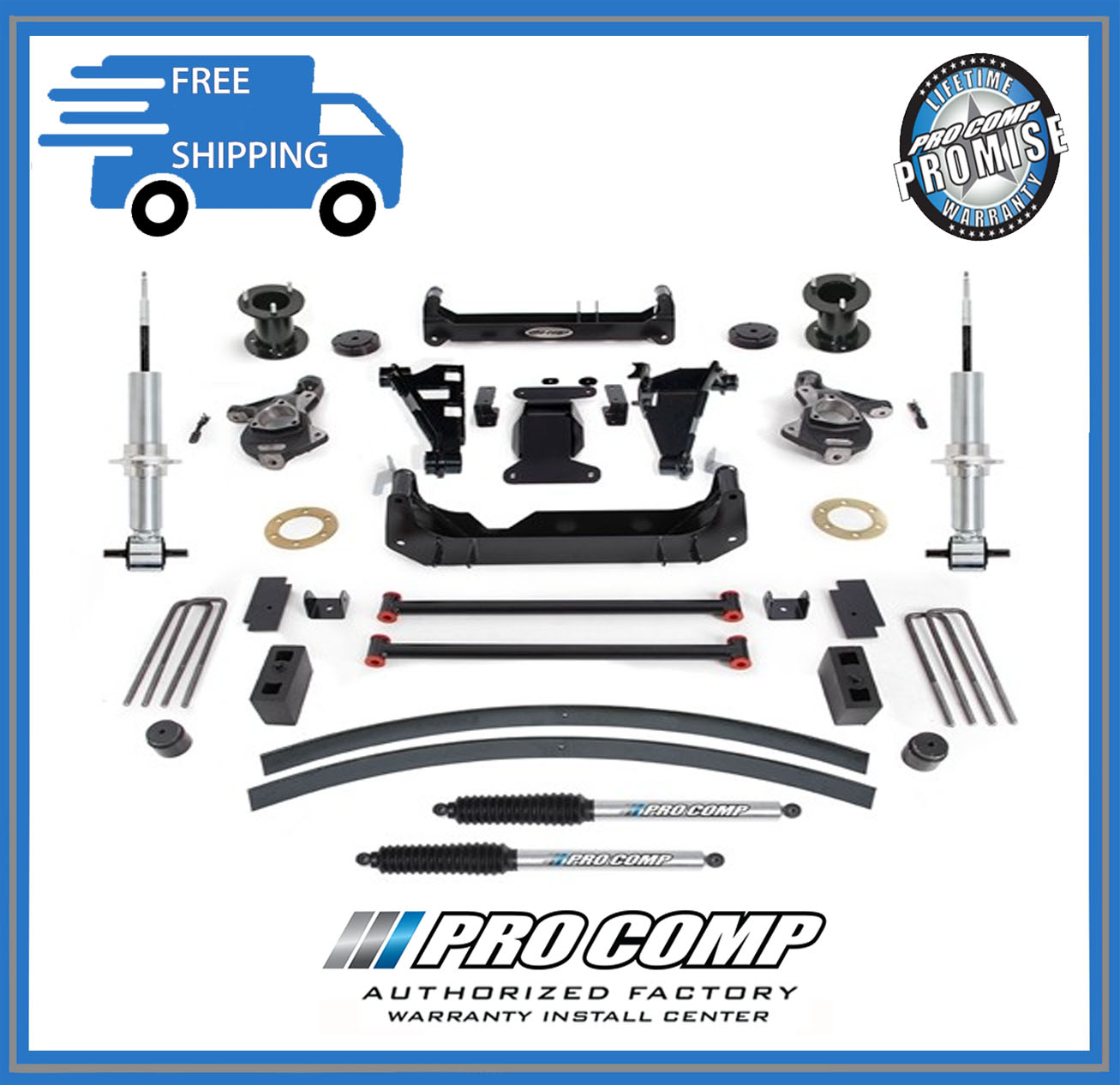 hight resolution of 6 pro comp suspension lift kit 2014 2018 gm 1500 pickup w pro runner shocks