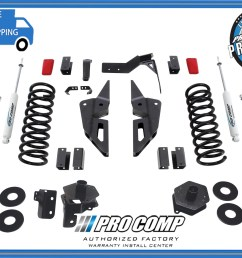 4 pro comp stage ii suspension lift kit 2014 2017 dodge ram gas motor 2500 4x4 [ 2400 x 1782 Pixel ]