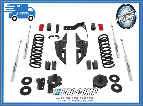 small resolution of 4 pro comp stage ii suspension lift kit 2014 2017 dodge ram gas motor 2500 4x4
