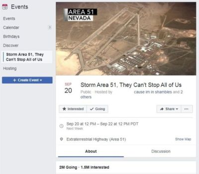 Area 51 FB Post