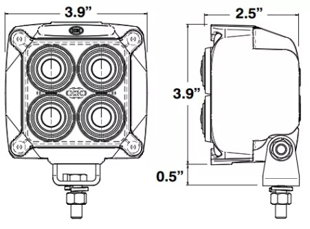 US5277513 further Micro De Premium Fog L additionally Hella 90mm Bi Led Headl  Module Hi Low Beam likewise 6507 as well Trucklite 3050a Led 3050a3. on snow plow light lens