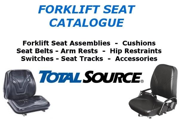 Forklift seats, Seat Belts, Hip Restraints