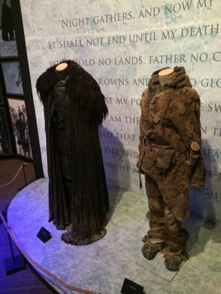 As roupas de Jon Snow e Ygritte