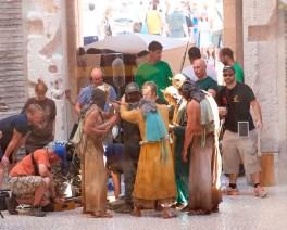 Split, 09.09.2014 - Snimanje pete sezone serije Igre prijestolja na Peristilu i Podrumima