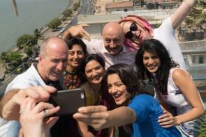 Lana Wachowski, Anupam Kher, James McTeigue, Tina Desai, Mumbai