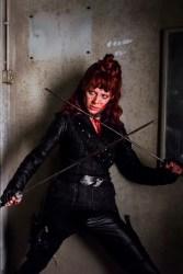 Emily Beecham as The Widow- Into the Badlands _ Season 2, Episode 1 - Photo Credit: Antony Platt/AMC