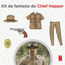 Kit de Fantasia do Chief Hopper - Stranger Things