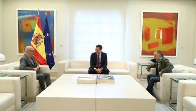 صورة إسبانيا: رئيس الحكومة يتلقى الأمناء العامين للاتحاد العام للعمال لإعلان الاتحاد الأوروبي للنقابات من أجل أوروبا اجتماعية