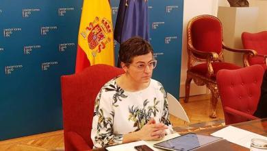 صورة وزيرة الخارجية الإسبانية تلتقي مع الشركاء الأوروبيين لتنسيق التدابير اللازمة لضمان حرية الحركة في الاتحاد الأوروبي هذا الصيف