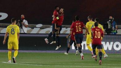 صورة فازت إسبانيا على أوكرانيا في ليلة قياسية