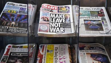 صورة بريطانيا: اعتقال 72  شخصًا بسبب احتجاجا وتمرد لتؤخر توزيع الصحف وحرية الإعلام