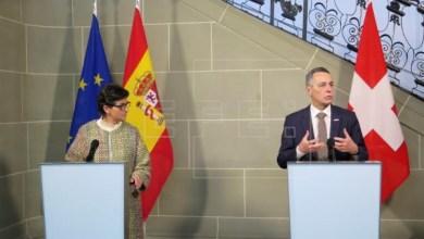 صورة وزيرة الخارجية الإسبانية تخاطب قضية الهجرة مع الأمم المتحدة في جنيف